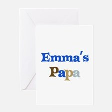 Emma's Papa Greeting Card