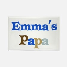 Emma's Papa Rectangle Magnet
