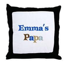 Emma's Papa Throw Pillow