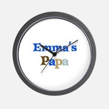 Emma's Papa Wall Clock