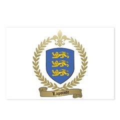 LAPOINTE Family Crest Postcards (Package of 8)