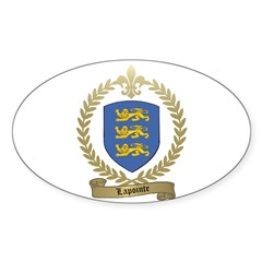 LAPOINTE Family Crest Oval Decal