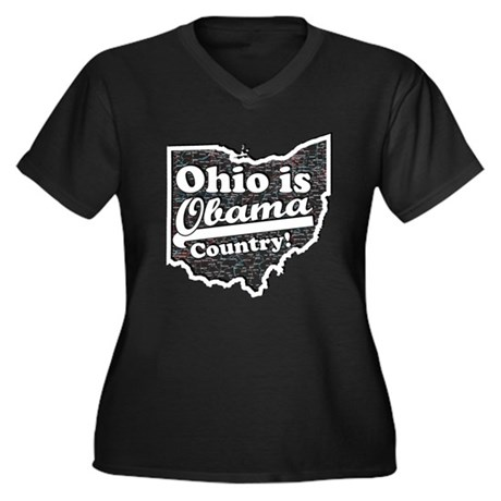 Ohio Is Obama Country Women's Plus Size V-Neck Dar