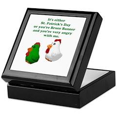 St Patrick's Day Chicken Keepsake Box
