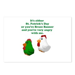 St Patrick's Day Chicken Postcards (Package of 8)