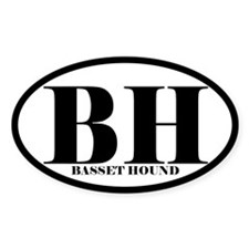 BH Abbreviation Basset Hound Decal