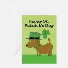 St Patrick's Day Dog Greeting Card