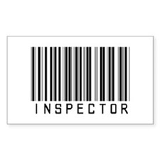 Inspector Barcode Rectangle Decal