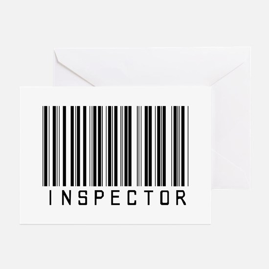 Inspector Barcode Greeting Cards (Pk of 20)