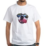 humorous boston terrier dog face White T-Shirt