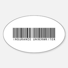Insurance Underwriter Barcode Oval Decal