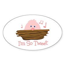 So Tweet Baby Oval Decal