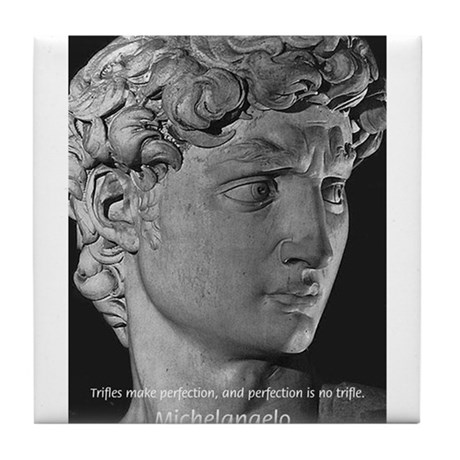 Michelangelo David Sculpture Tile Coaster