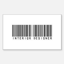 Interior Designer Barcode Rectangle Decal