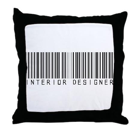 Interior Designer Barcode Throw Pillow