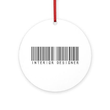 Interior Designer Barcode Ornament (Round)