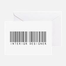 Interior Designer Barcode Greeting Card