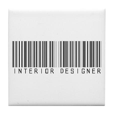 Interior Designer Barcode Tile Coaster