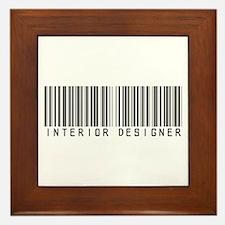 Interior Designer Barcode Framed Tile
