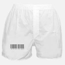 Interior Designer Barcode Boxer Shorts