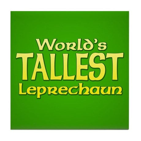 World's Tallest Leprechaun Tile Coaster