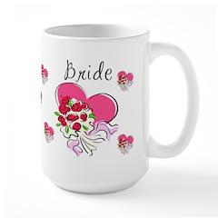 Brides Heart Bouquet Mug
