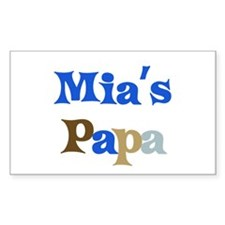 Mia's Papa Rectangle Decal
