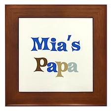 Mia's Papa Framed Tile