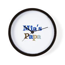 Mia's Papa Wall Clock
