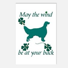 Irish Setter and Shamrocks Postcards (Package of 8