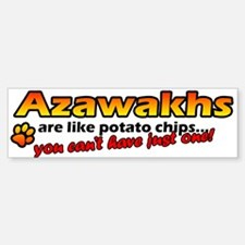 Potato Chips Azawakh Bumper Bumper Bumper Sticker