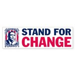 Stand for CHANGE- Barack OBAMA Sticker