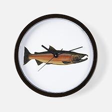 Coho Salmon Wall Clock