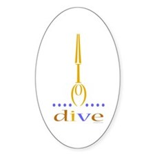 Diver Oval Decal