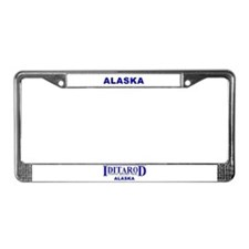 Funny Iditarod License Plate Frame