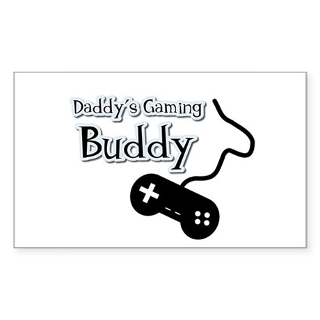 Daddy's Gaming Buddy Rectangle Sticker