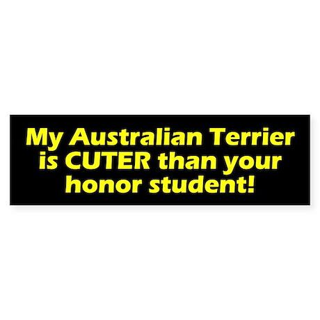 Cuter Australian Terrier Bumper Sticker