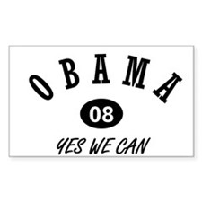 OBAMA 08 Rectangle Decal