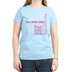 Pink Four Wheel Drive Girl T-Shirt