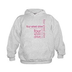 Pink Four Wheel Drive Girl Hoodie