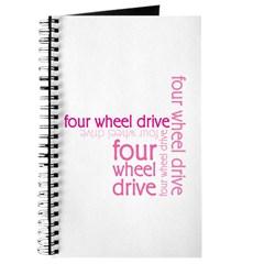 Pink Four Wheel Drive Girl Journal