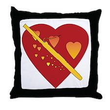 Bassoon Heartsong Throw Pillow