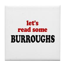Let's Read Burroughs Tile Coaster