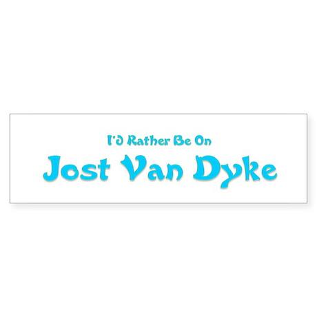 I'd Rather Be...JVD Bumper Sticker