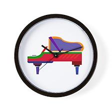 Funky Piano Wall Clock