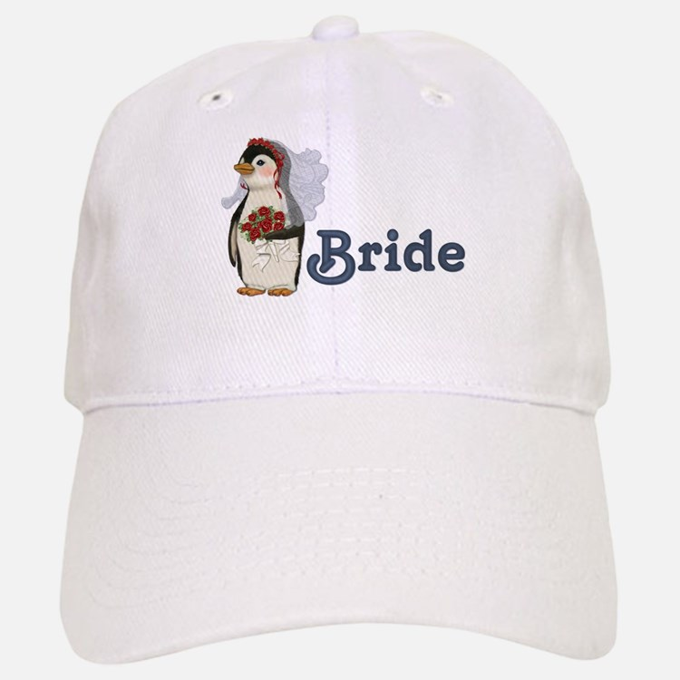 Penguin Wedding - Bride Baseball Baseball Cap