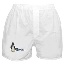 Penguin Wedding - Groom Boxer Shorts