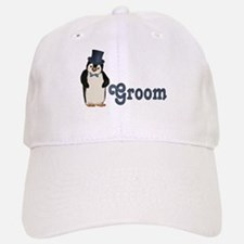 Penguin Wedding - Groom Baseball Baseball Cap