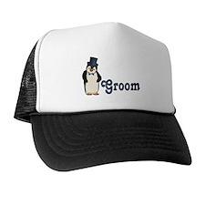 Penguin Wedding - Groom Trucker Hat