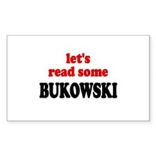 Let's Read Bukowski Rectangle Decal